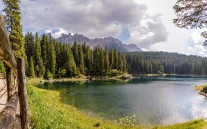Lake Carezza in late June